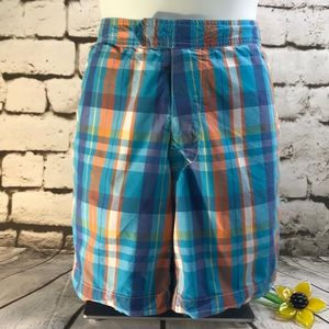 J. Crew Men's Sz 30 Swim Trunks Plaid Multi Color
